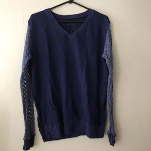 Autumn Calabrese sweatshirt with knitted arms